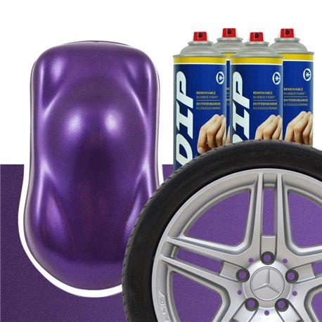 DIP szettek keréktárcsára lila metál